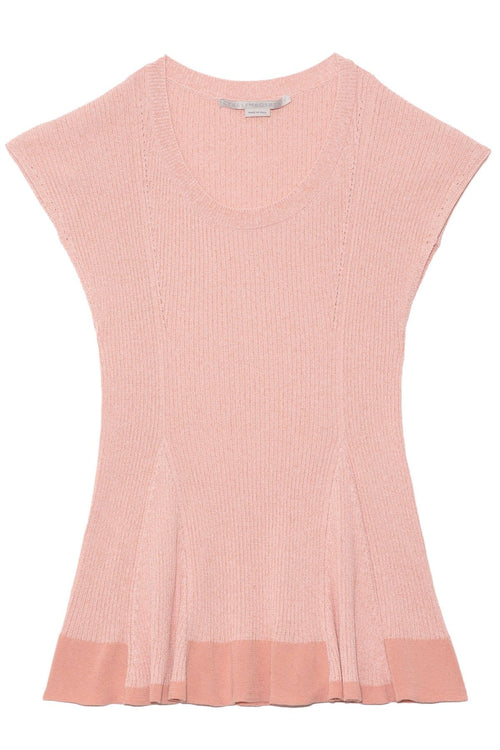 Collapsing Shape Top in Pink