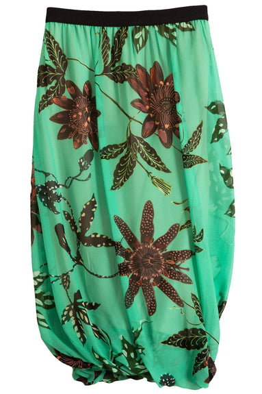 Floral Transparencies Skirt in Green Passiflora TS
