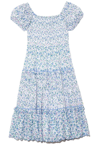 Masie Dress in Blue Jay Song