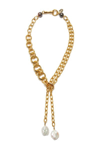 Edith Lariat in Gold