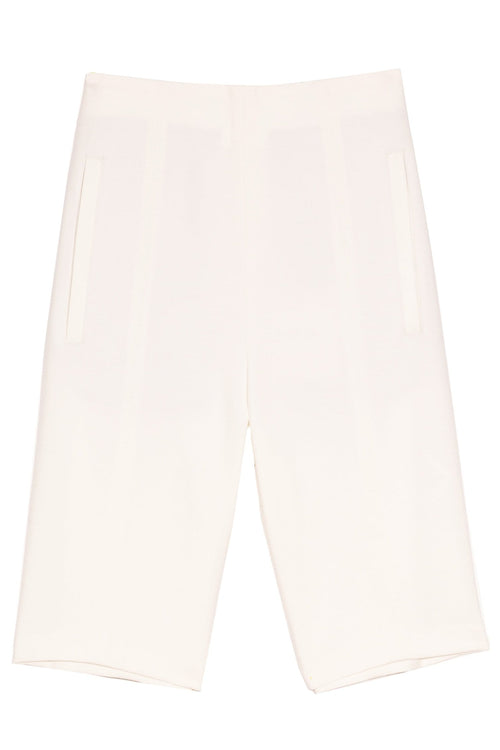 Anson Stretch High Waisted Biker Short in Ivory
