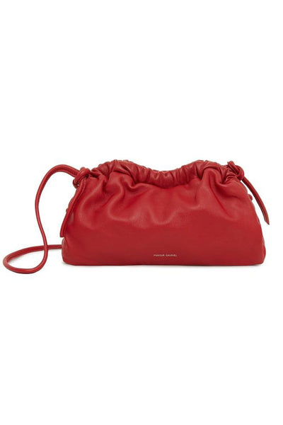 Lambskin Mini Cloud Clutch in Flamma
