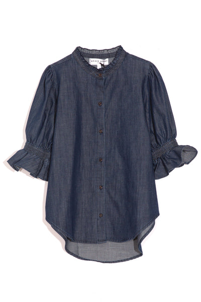 Los Altos Blouse in Enzyme Wash