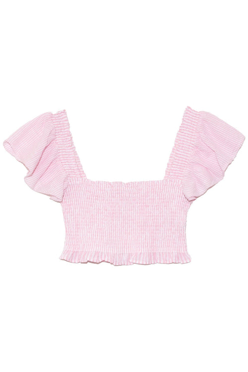 Wallace Crop Top in Pink Papershell