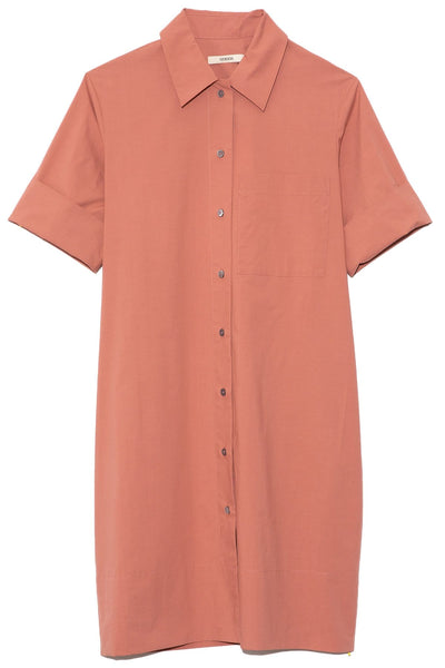 Button Down Dress in Terracotta