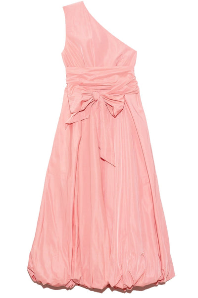 Taffeta One Shoulder Dress in Azalea Pink