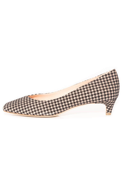 Freya Pump in Houndstooth