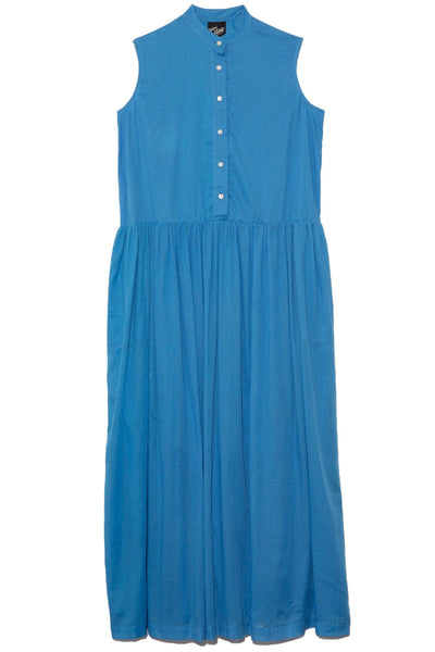 Sleeveless Baba Dress in Blue Greece