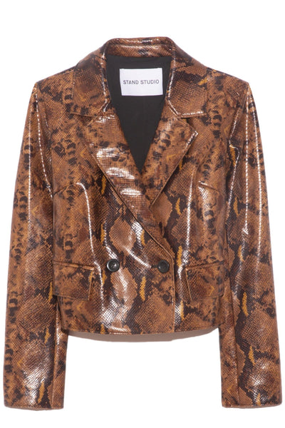 Lucia Blazer in Brown Snakeprint