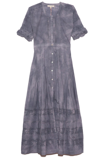 Edie Dress in Hand Dyed Washed Denim