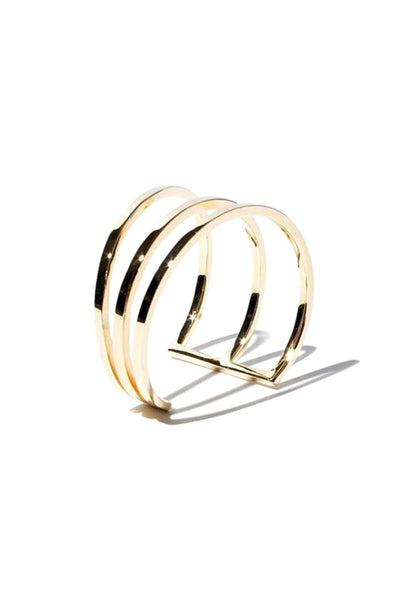 Large Inez Cuff in 14k Gold Plate