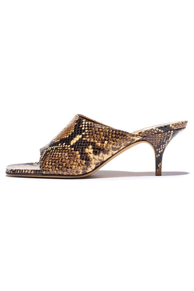Sabine Mule in Multi Snakeprint