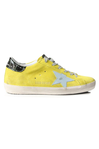 Superstar Sneakers in Yellow Suede/Cocco Print/Cloud Star