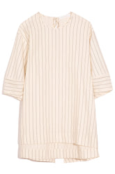 Millie Shirt in Cream Stripe