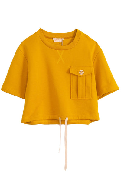 Cotton Sweatshirt in Dark Lemon