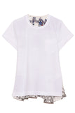 Archive Print Mix T-Shirt in White