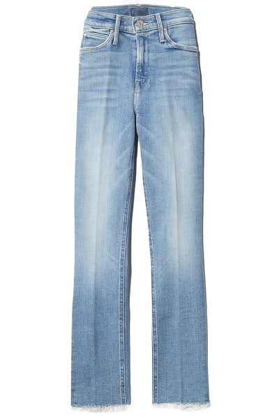Mid Rise Dazzler Ankle Fray Jean in Dropping In