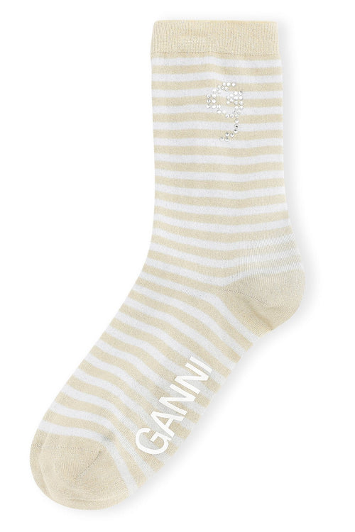 Polyamide Lurex Blend Sock in Heather