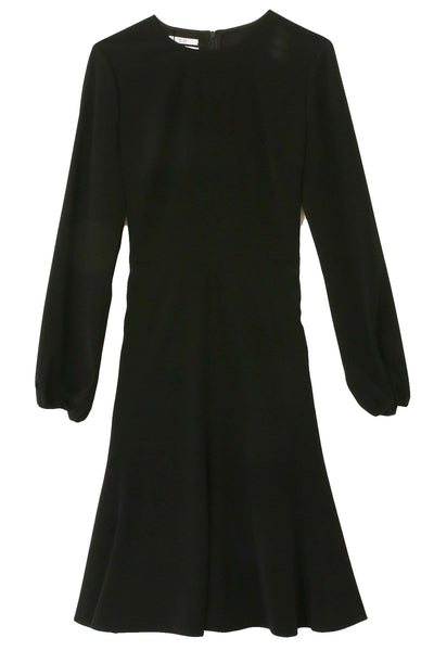 Peasant Sleeve Short Dress in Black
