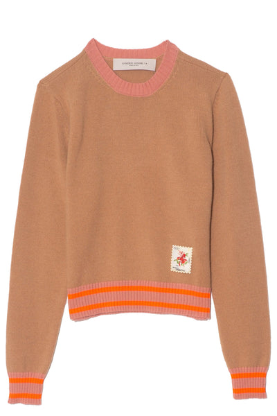 Annarella Sweater in Camel/Pink