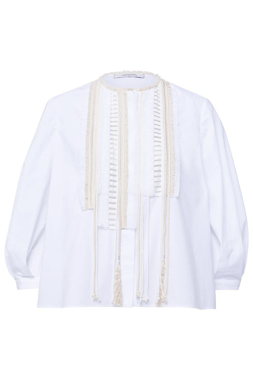 Poplin Power Blouse in Pure White