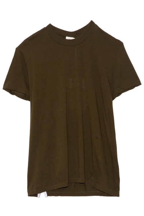 Slim Fit Classic T-shirt in Dark Army