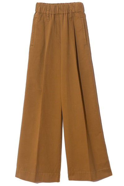 Frosted Cotton Diagonal Structure Pants in Khaki