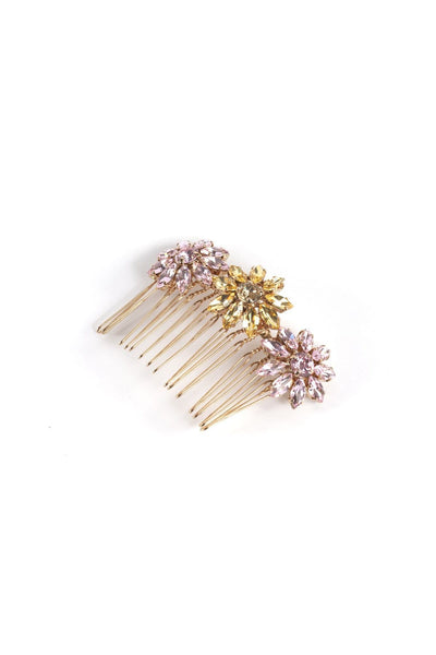 Utopia Hair Comb in Yellow/Rose