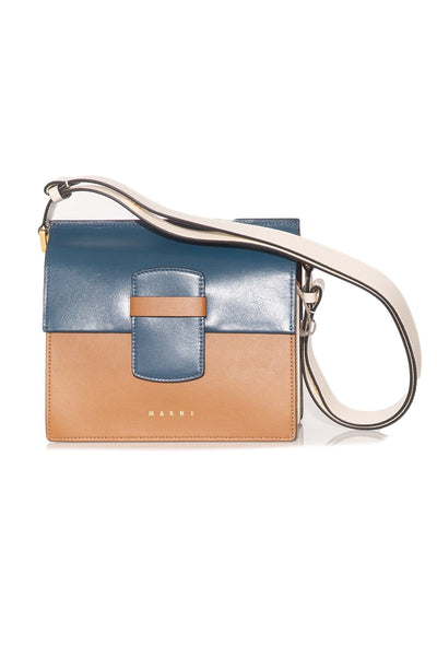 Crossbody Shopping Bag in Blue/Black