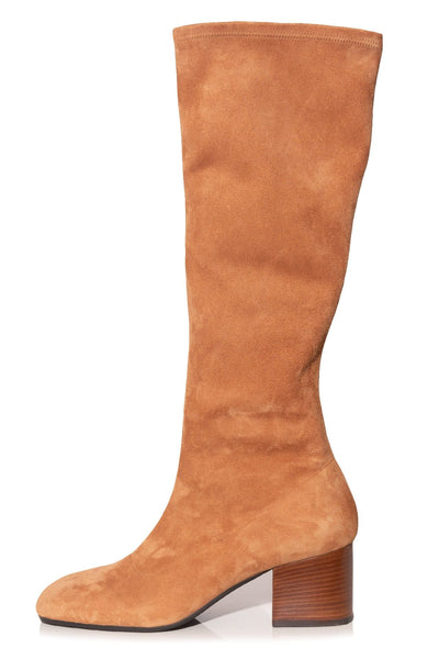 Suede Boot in Tan