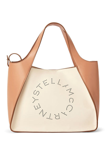 Crossbody Eco Nappa Logo Bag in Pure White/Camel