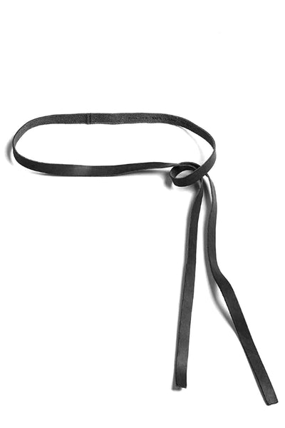 Leather Belt in Nero