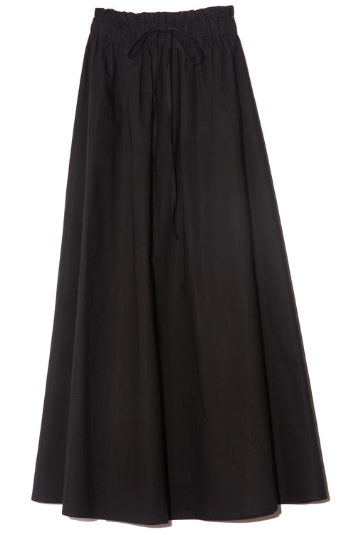 Horchata Cotton Skirt in Black
