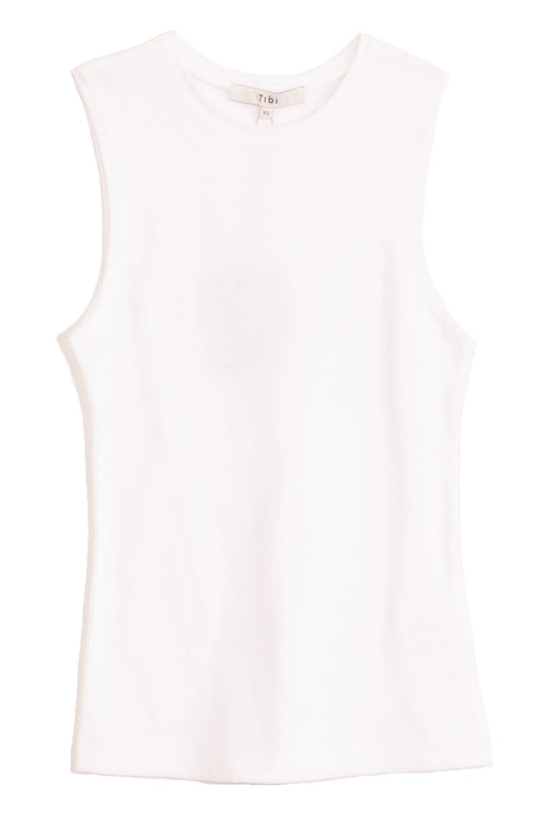 Dry Loop Terry Fitted Tank in White