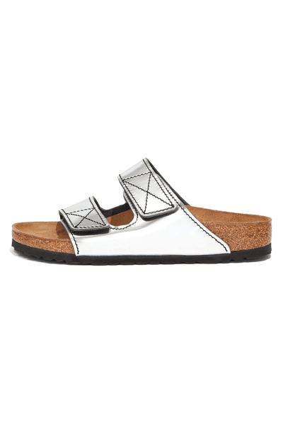 PS x Birkenstock Arizona Sandal in Silver