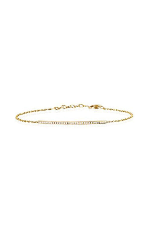 Diamond Bar Chain Bracelet in Yellow Gold