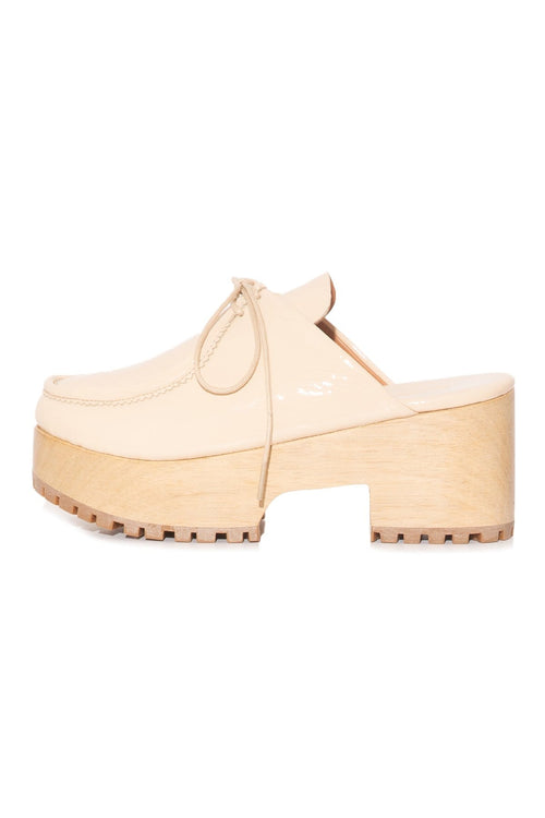 Pomme Clog in Creme