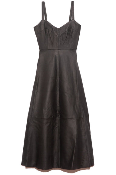 Brush Leather Dress in Black