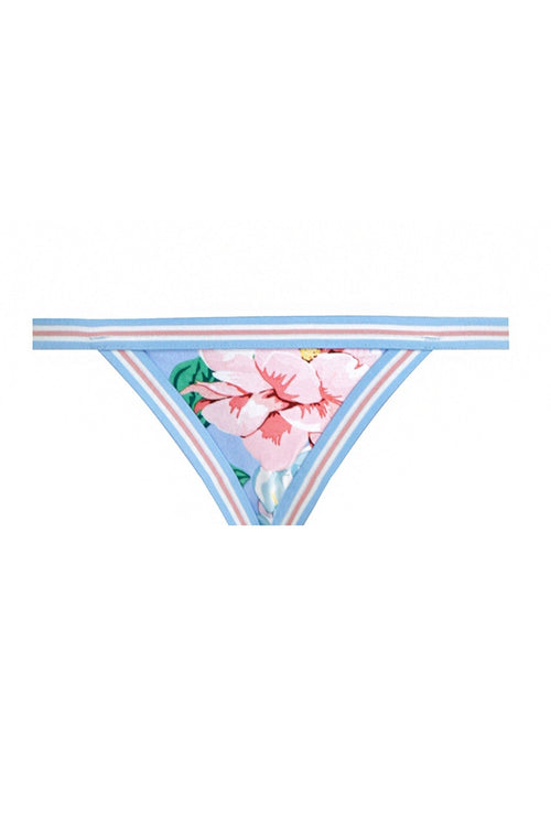 Bellitude Elastic Bikini Bottom in Cornflower Floral