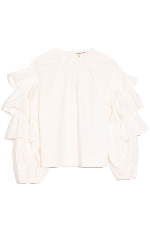Tulia Blouse in Blanc
