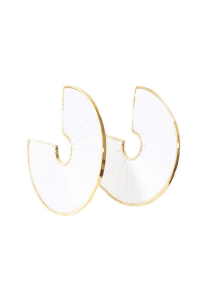 Mega Fiona Hoop in White/Gold