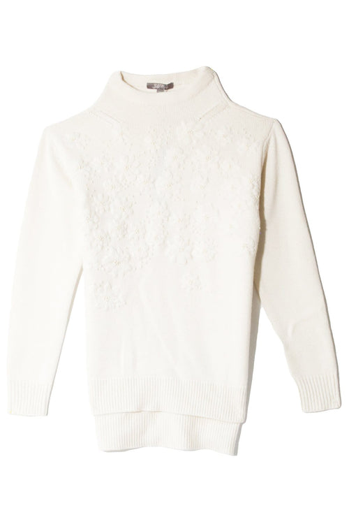 Funnel Neck Knit in Ivory
