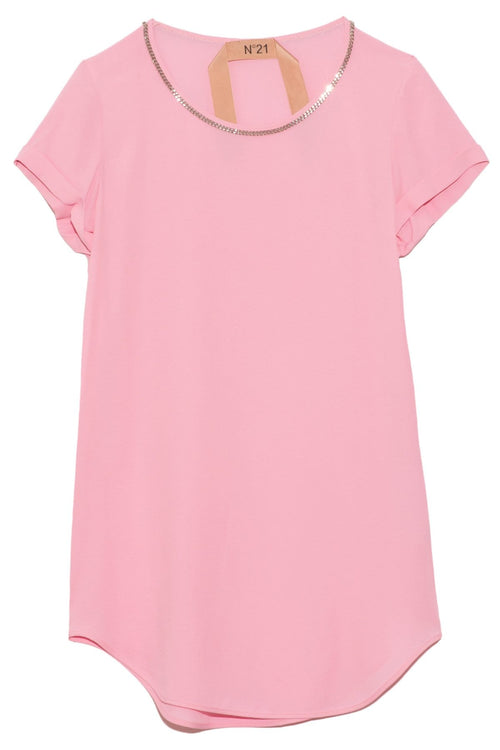Short Sleeve Top in Rose Pink