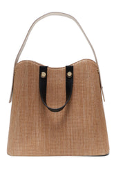 Friday Shopper Tote in Woven Tan