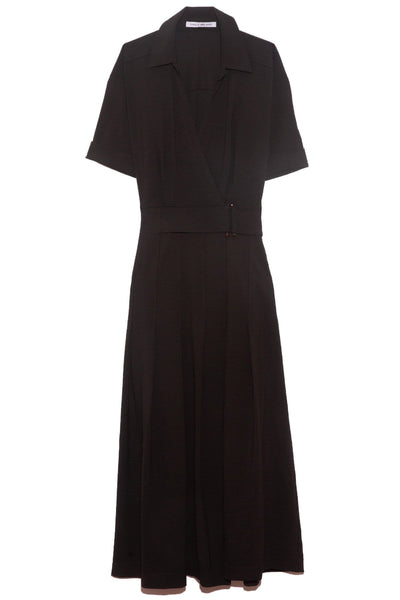 Corsica Pleated Dress in Black