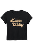 Lil Goodie Goodie Tee in Faded Black Double Or Nothing