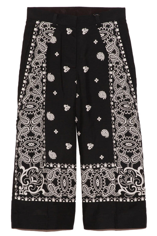 Archive Print Mix Pants in Black