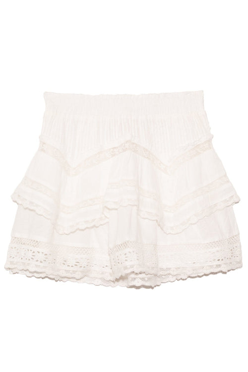 Abrielle Skirt in True White
