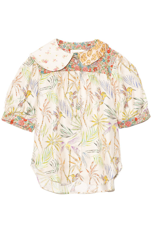 Dixi Top in Mixed Malibu Print