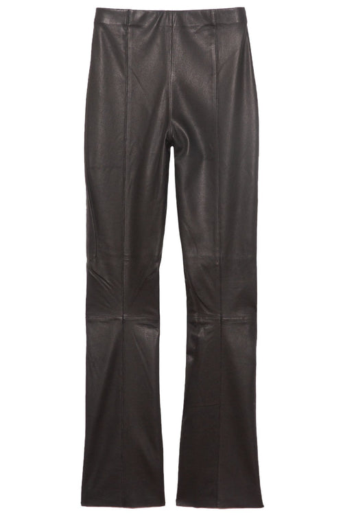 Buck Stretch Leather Pant in Black